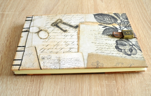 Picture of Steampunk Vintage Album / Guest Book