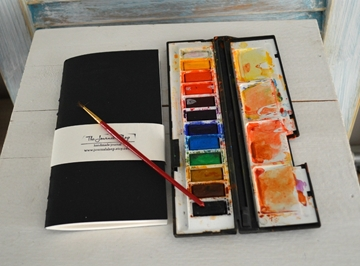 Picture of Midori Insert, Watercolor Journal - Black