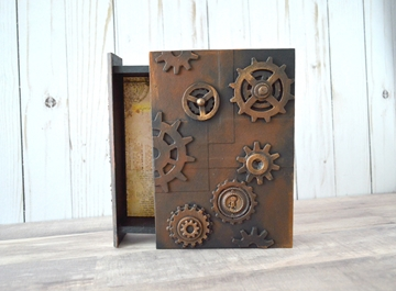Picture of Steampunk Wooden Book Box