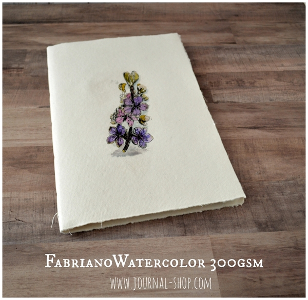 Picture of Watercolor Sketchbook Fabriano Artistico Cotton Paper in A4 size, lay flat journal notebook with Khadi cotton rug covers, diary blank book