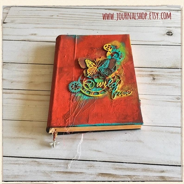 Picture of Wild & Free -Boho Guest Book, Junk Journal Diary