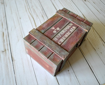 Picture of Hazardous Chemicals Wooden Box