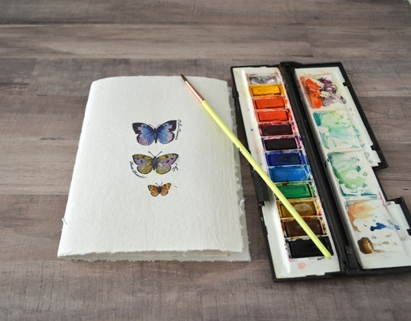 Picture of Watercolor Cahier with Khadi Covers